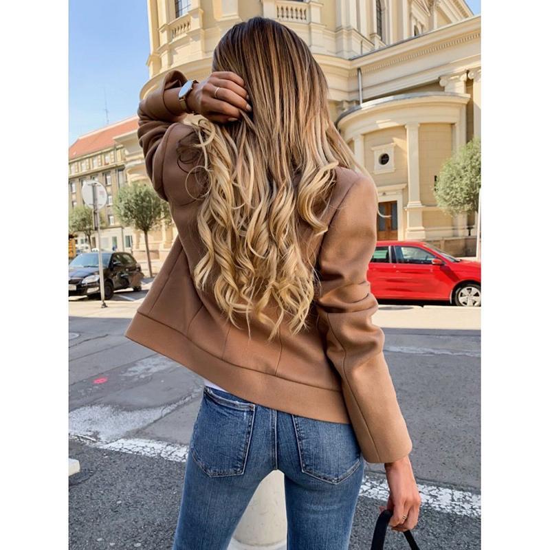 Laine de femme mélange automne hiver manteau femmes 2021 casual massif veste blazer féminin élégant double boutons à double boutonnage dames plus taille SJ