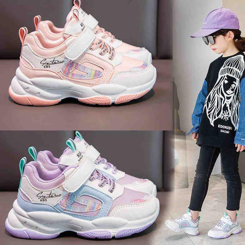 Девушки 2021 Весна и осень Новая детская обувь