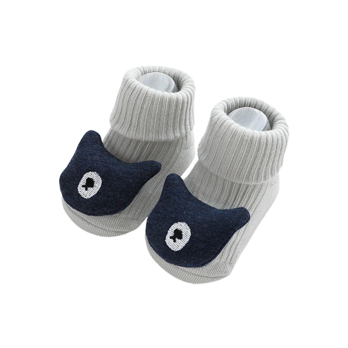 Baby Sockenschuhe Winter Dicke Baumwolle Tierstile Nette Babyboden Schuhe Anti-Rutsch Erste Wanderer 0-3 Jahre