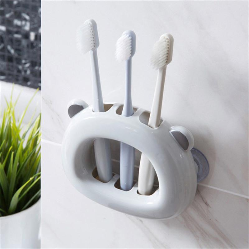 Duvar Emme Diş Fırçası Tutucular Banyo Duvara Dağı Raf Diş Fırçaları Kartuş Vantuz Kozmetik Fırça Depolama Rafları Y0220