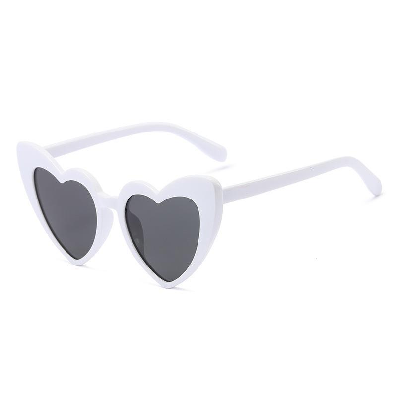 2021 New Fashion Personalidad Versátil Love Bar Nightclub Funny Gafas de sol Populares Gafas en forma de corazón