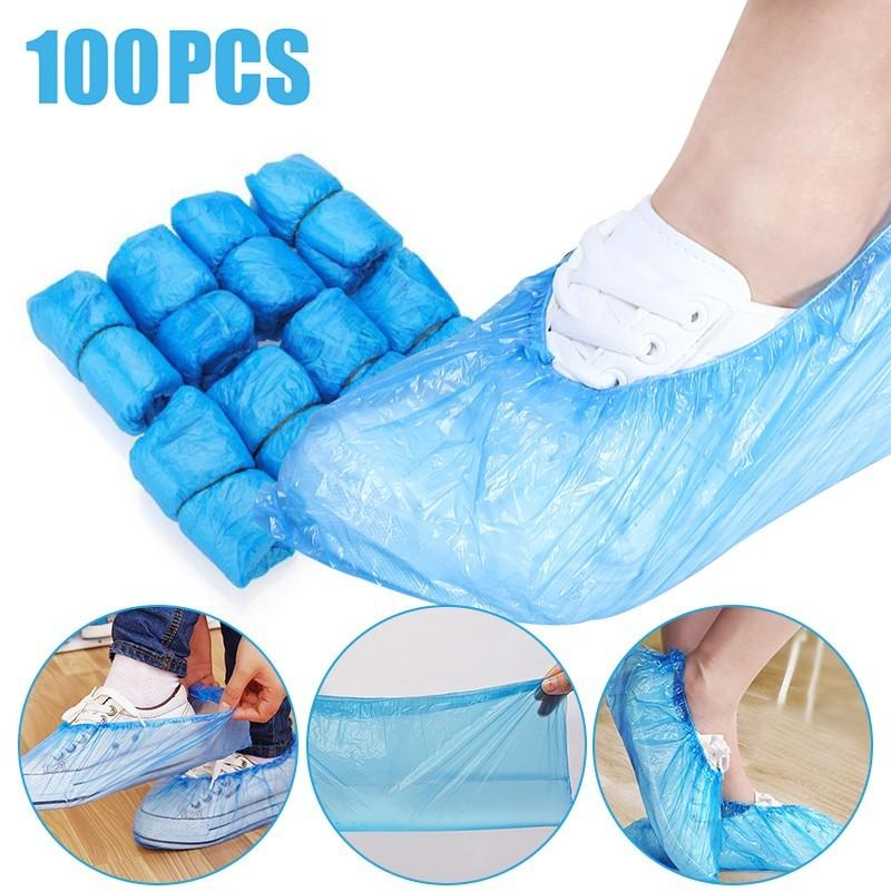 Disposable Anti Slip Safety Cover Cleaning Pvc Plastic Over Shoes Shoe Boot Covers Carpet Protectors