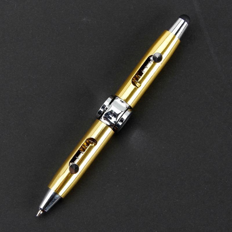Gyro pen تململ لعبة الروتاري مكثف لغز التفكير الدوران القلم الكرة المعدنية متعددة الوظائف إصبع إزالة الضغط القلم CCF5656