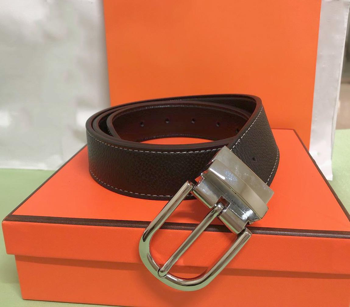Concentré de ceinture de haute qualité de la ceinture de femmes et de femmes avec la mode grosse boucle vraie cuir H Top Designer Cintes de luxe pour hommes avec boîte