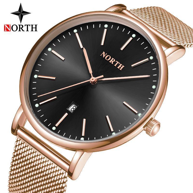 Armbanduhren North Uhr Männer Einfache Mode Top Marke Quarz Luxus Wasserdichte Sport Kalender Uhren Relogio Masculino