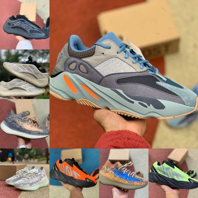 2021 Yeni 700 V3 Erkek Sneakers Koşu Ayakkabıları Azael Alvah Yardımcı Siyah Dalga Koşucu Mnvn Fosfor Turuncu Kemik Bayan Spor Açık Moda G7
