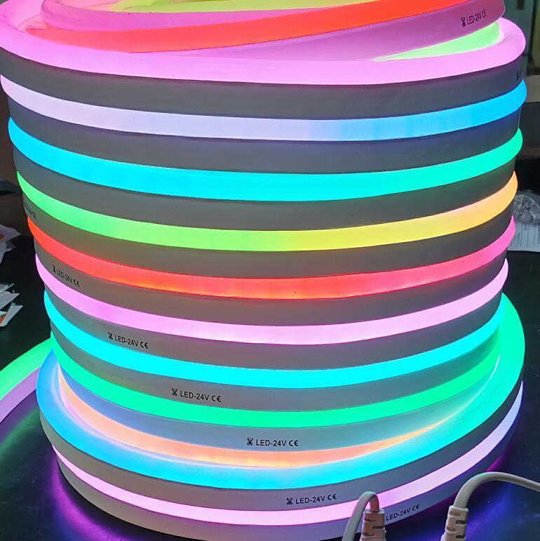 5m magic neon strips digital led neon flexible ribbon flex tube 10 pixel /m RGB neonflex