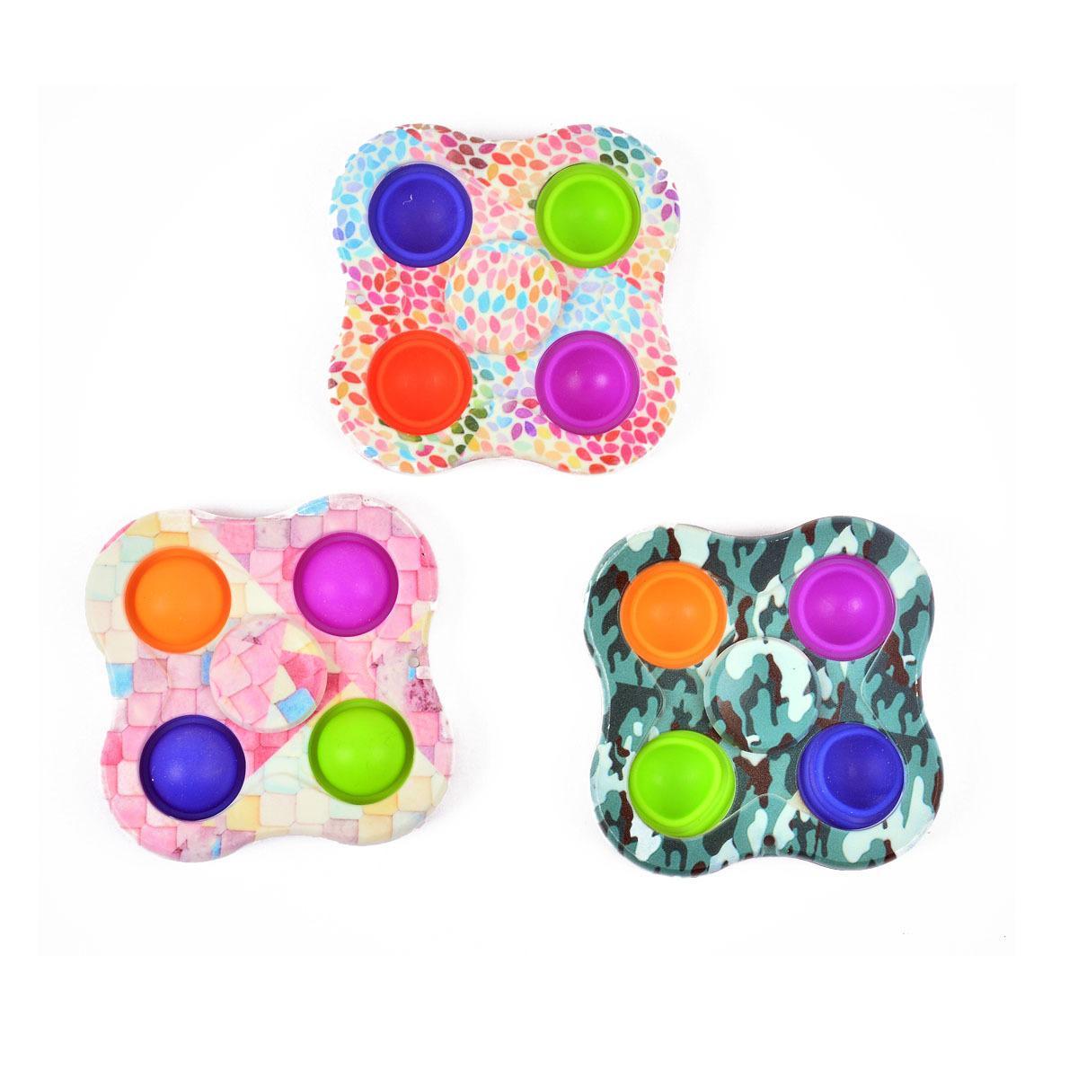 Girando top anti-rato pioneiro cor de dedo impressão bolha le silicone descompressão brinquedo fidget spinner