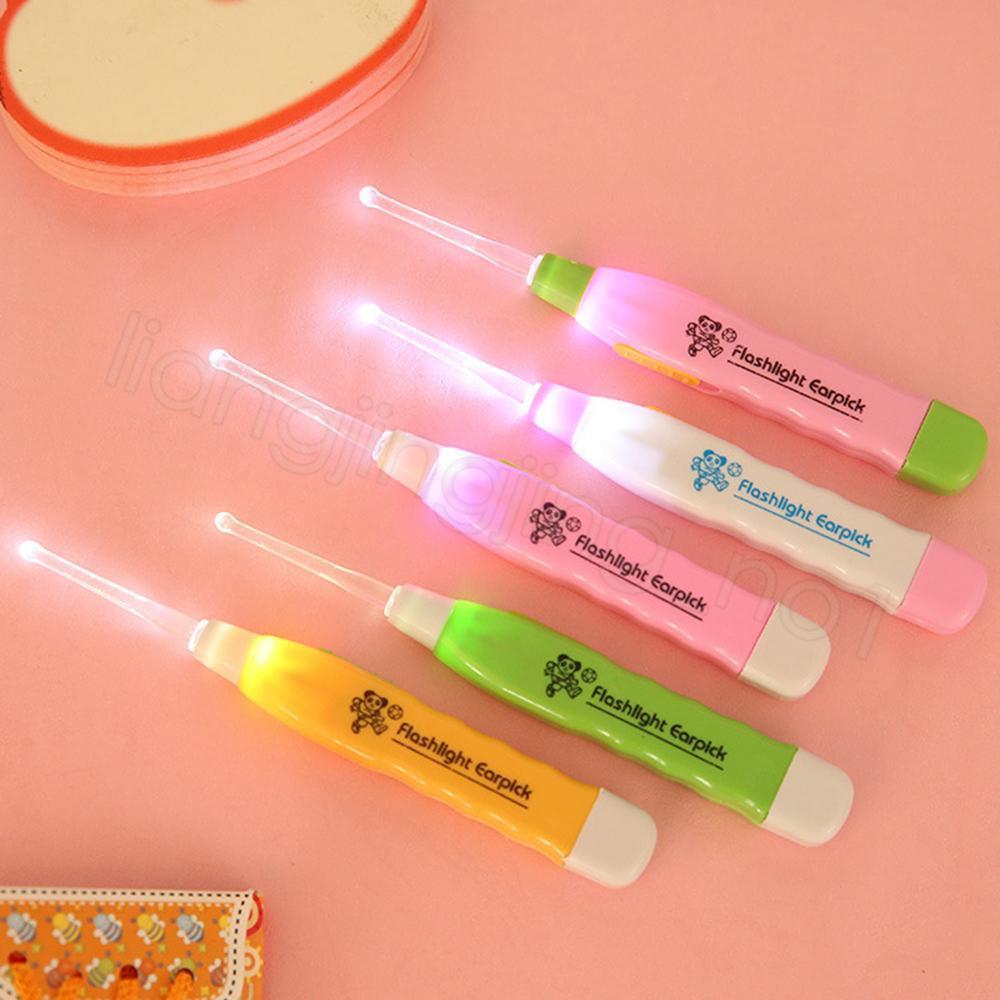 Светодиодный фонарик Детское ухо Grow Earpick с удовольствием с помощью чистки Curtte Cleans Tweezer 3 фитинга для детского здоровья подарок Health Hear ZC005