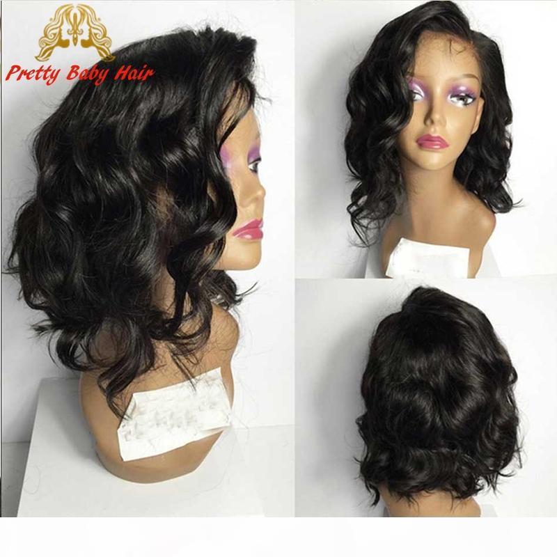 7A 100% Бразильские Девы Человеческие Волосы Парик Волнистые Полный Кружева Человеческие Парики для волос Для Черных Женщин Гюросточники Кружева Фронт Человеческие Волос Парики