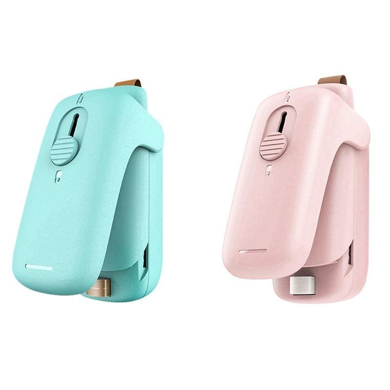 2x Folie Schweißer Mini Bag Sealer Handfolie Welder Mini Folie Handy Taschen grün Rosa