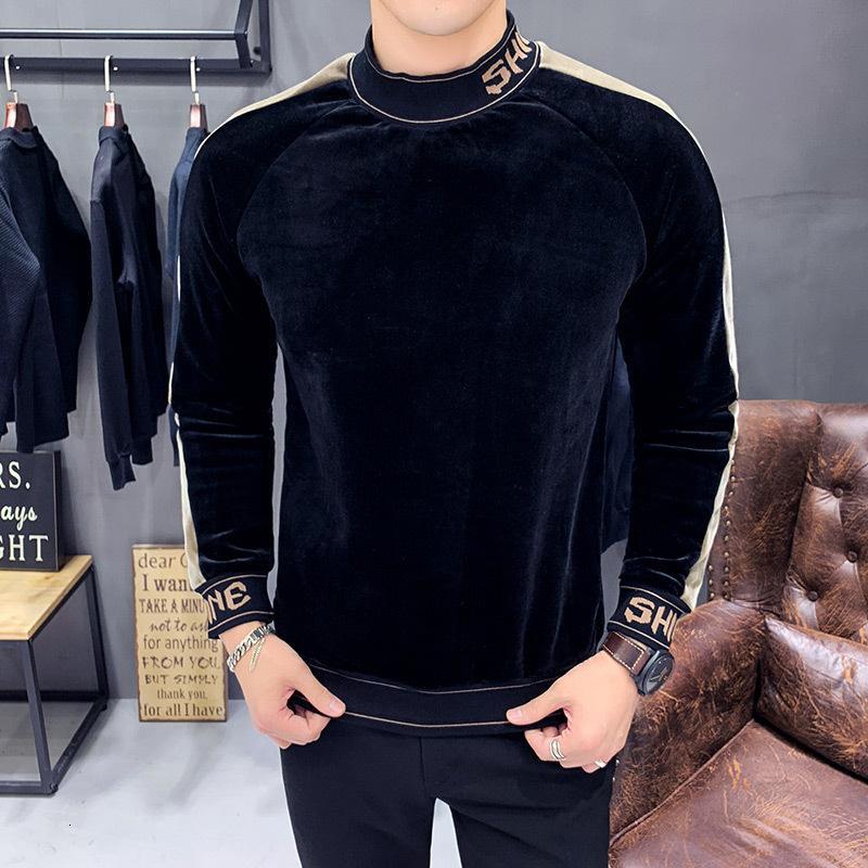 Hoodies Ince Ter Fit Polar Tişörtü Sokak Moda Rahat 2021 Kış Hoodie Siyah Kadife Kazak DRB7