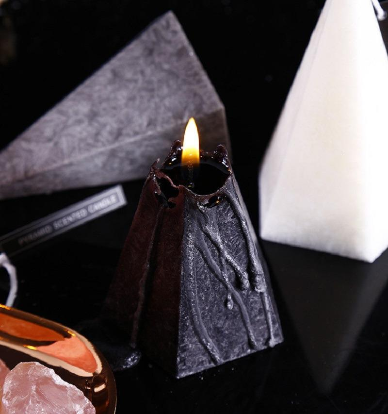 Nordic Rose Geometric Jasmine Cono Aromaterapia profumata Olio essenziale Candela di olio di lunga durata Dxhfyqa