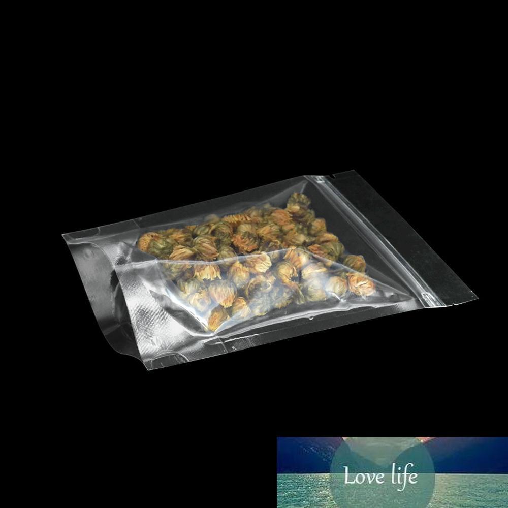 12 * 20 см Тепловой герметичный прозрачный пластиковый пакет прозрачный Doypack кофе чай сушеный пищи верхняя молния упаковка сумка 100 шт. / Лот