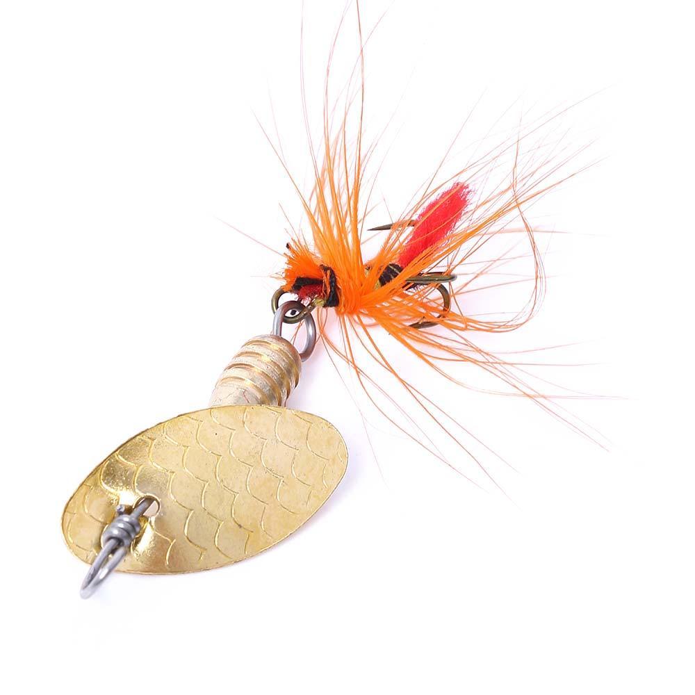 100pcs Pêche Spoon Lure 5cm 2G 6 # Croques Spinner Tackle Hard Bait Toile de pêche en métal Trolling One Hooks Livraison gratuite