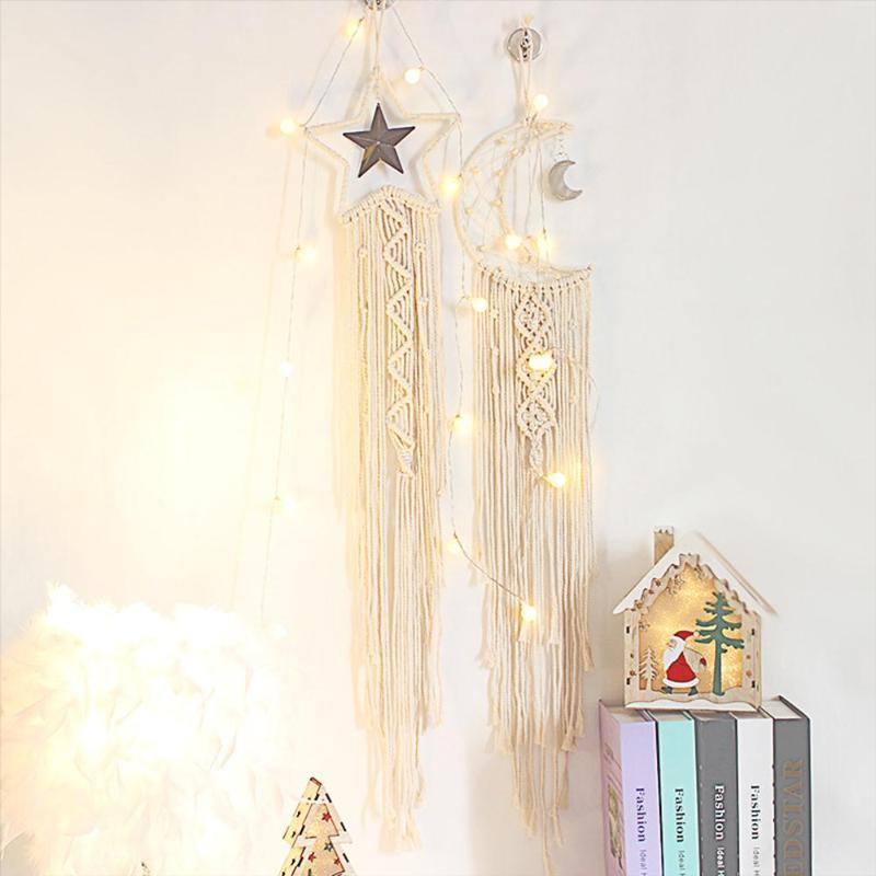 Decorative Objects & Figurines Handmade Flaky Clouds Dreamcatcher Wall Decor Christmas Decorations Party Gift Wind Chimes Romantic LED Light