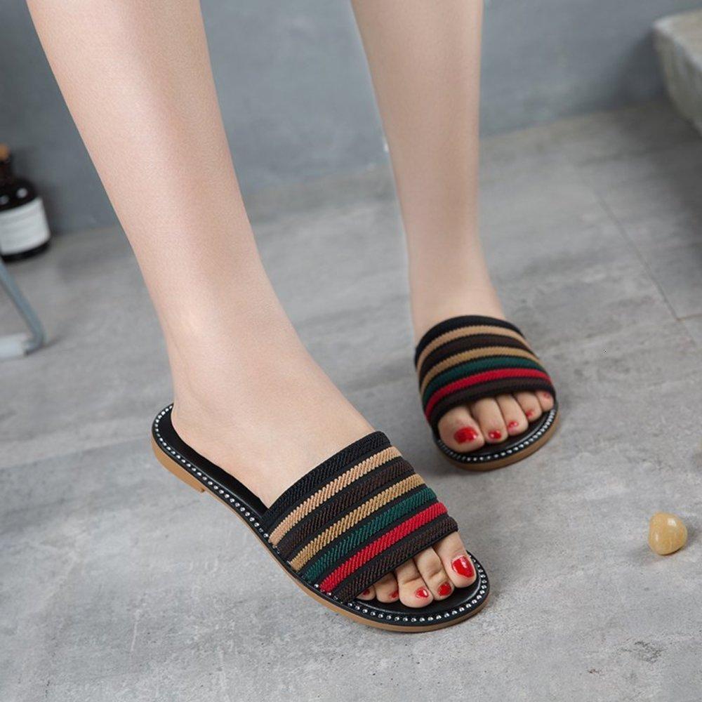 2021 yeni terlik giymek kadın net kırmızı peri sandalet moda