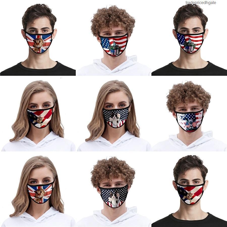 Lindas niños zorro de algodón diseñador cara máscara de cara aliento niños diversión elegante boca mufla polvo a prueba de viento protectoras de dibujos animados mascarillas # AQ134