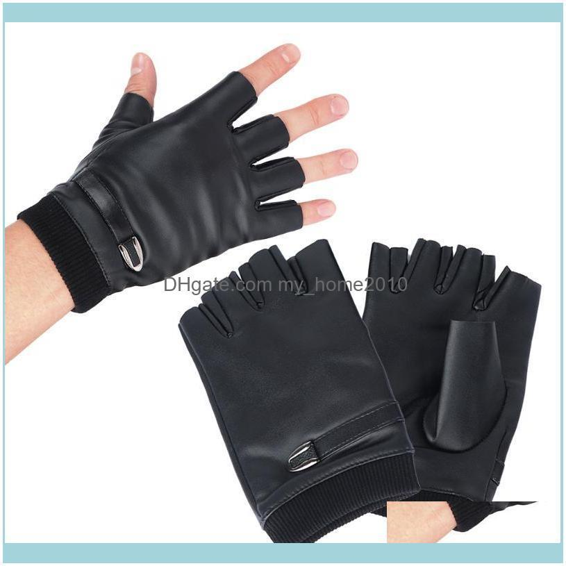 Protective Gear Sports & Outdoorspair Fashion Men Pu Leather Warm Plus Veet Half Finger Riding Cycling Gloves Outdoor Equipment Sport Aessor