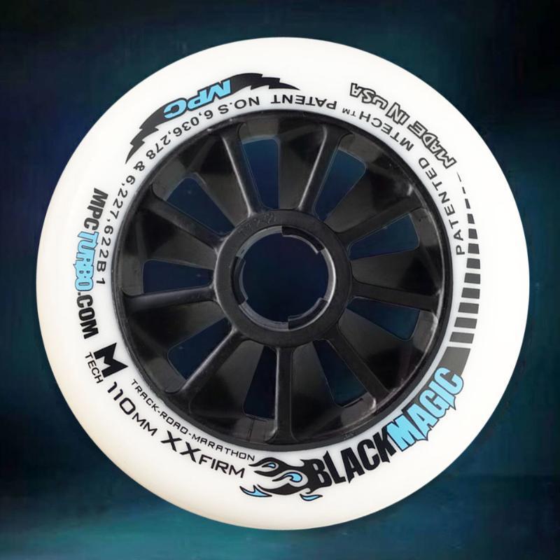 8 PCS MPC Black Magic Wheels SRC XXFIRM XFIRM FIME 110/100 / 90mm Maratona Racing pneus para patins de velocidade em linha patins de estrada A094