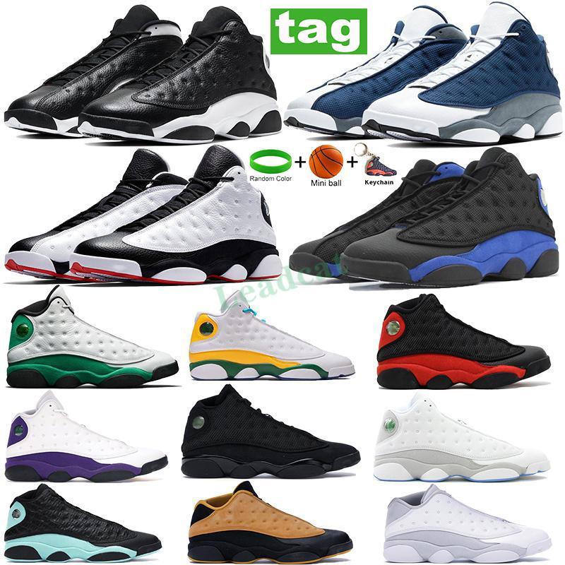 Yeni Varış Flint 13 13s Basketbol Ayakkabıları Tersi Oyunu Gibi Gibi Gibi Ground Gri Düşük Chutney Şanslı Yeşil Eğitmenler Erkek Spor Sneakers