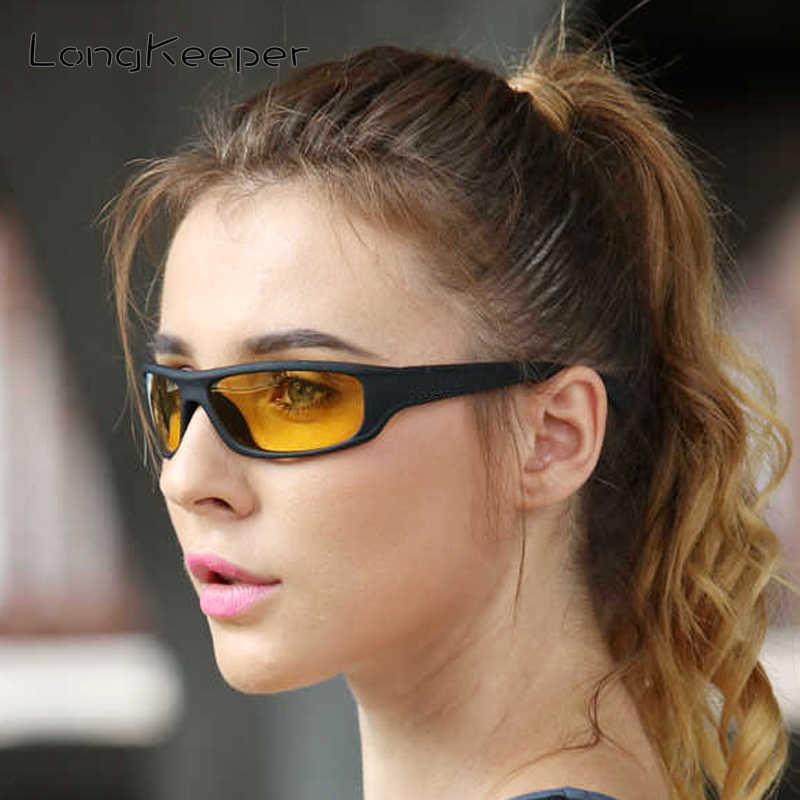 Long Keeper Polarized Night Vision Donne Retro Safety Driving Sunglasses Uomo UV400 Giallo Lente Giallo Eyewear KP1039