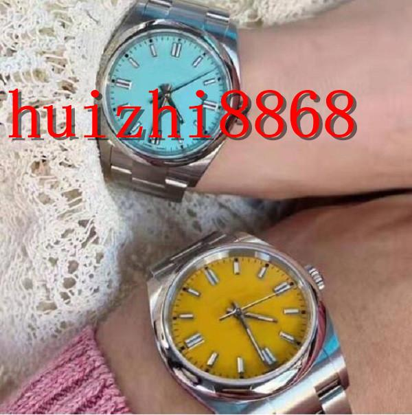 41 мм сапфировый кристалл модные часы розовые мужские дизайнерские женщины леди мастер человека автоматическое механическое движение часы алмазные наручные часы