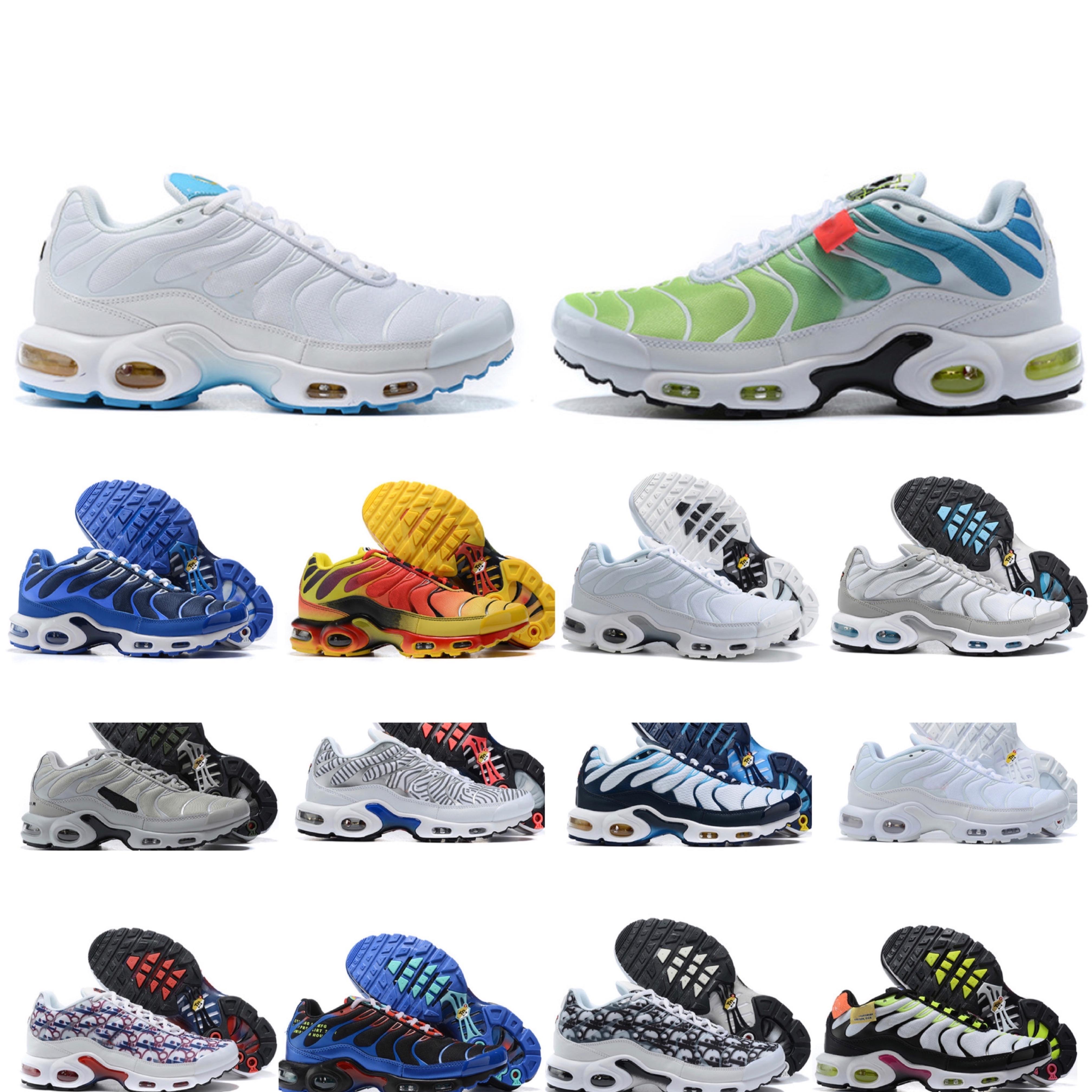 2021NEW Mens TN 플러스 러닝 신발 SE 볼트 블랙 하이퍼 블루 오레오 보라색 운동화 TNS 클래식 야외 트레이너 크기 40-46