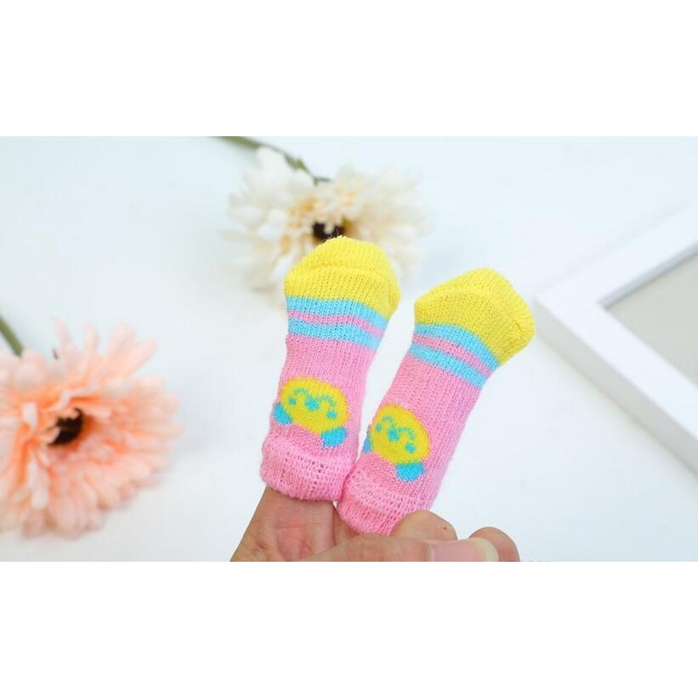 Hot Pet Dog Cat Warm Socks For Winter Cute Puppy Dogs Soft Cotton Anti-slip Knit Weave Sock Skid Bottom Dog Cat Soc jllbse outbag2007