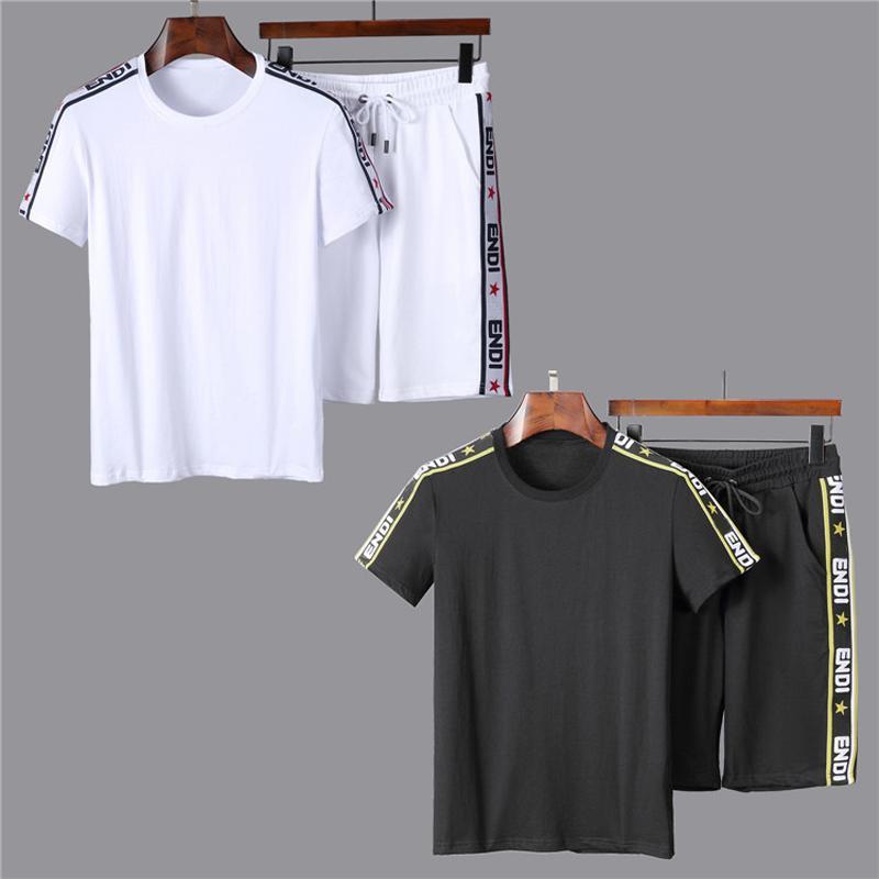Erkekler Spor Spor ve Tişörtü Sonbahar Kış Jogger Spor Takım Elbise Erkek Ter Suits Eşofman Seti Artı Boyutu M-2XL W96