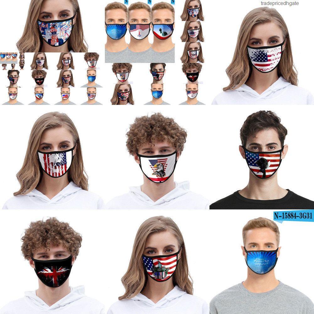 Gedruckte Cartoon Fashion 3D Designer Baumwolle mundwaschbare Masken PM2.5 staubdicht und dbrz Hgg7