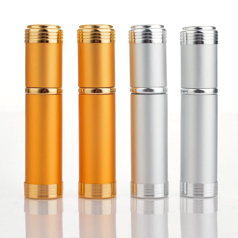 5ml pulverizador de alumínio transparente frasco de perfume frasco de pulverizador de garrafa portátil porta cosméticos vazios com pulverizador de alumínio R2021
