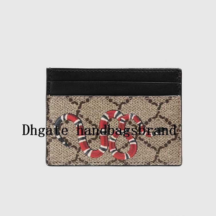Männer Luxurys Designer Karteninhaber Klassische Womens Casual Kreditkarteninhaber Rindsleder Ultra Slim Wallet Herren Frauen Geldbörsen Größe W10 * H7