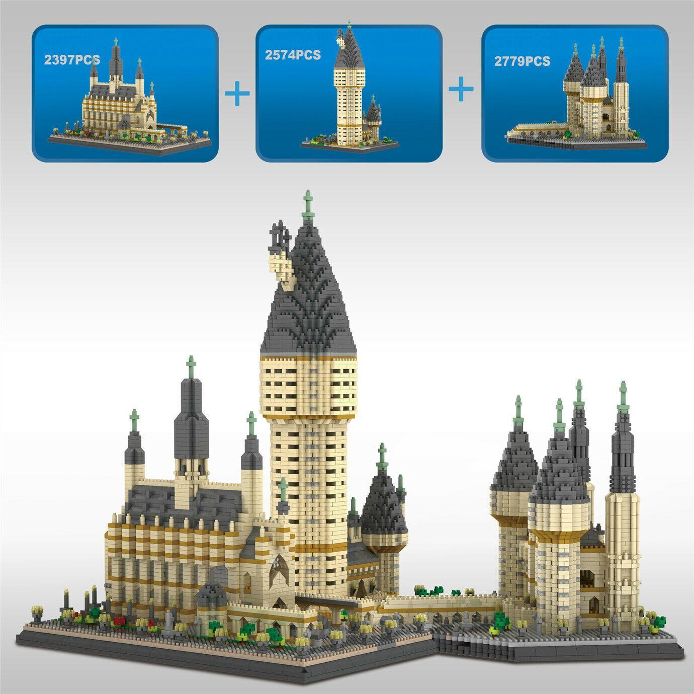 Kits modelo 7750 pcs hogwarts castelo harry potter blocos de construção diy brinquedos infantis
