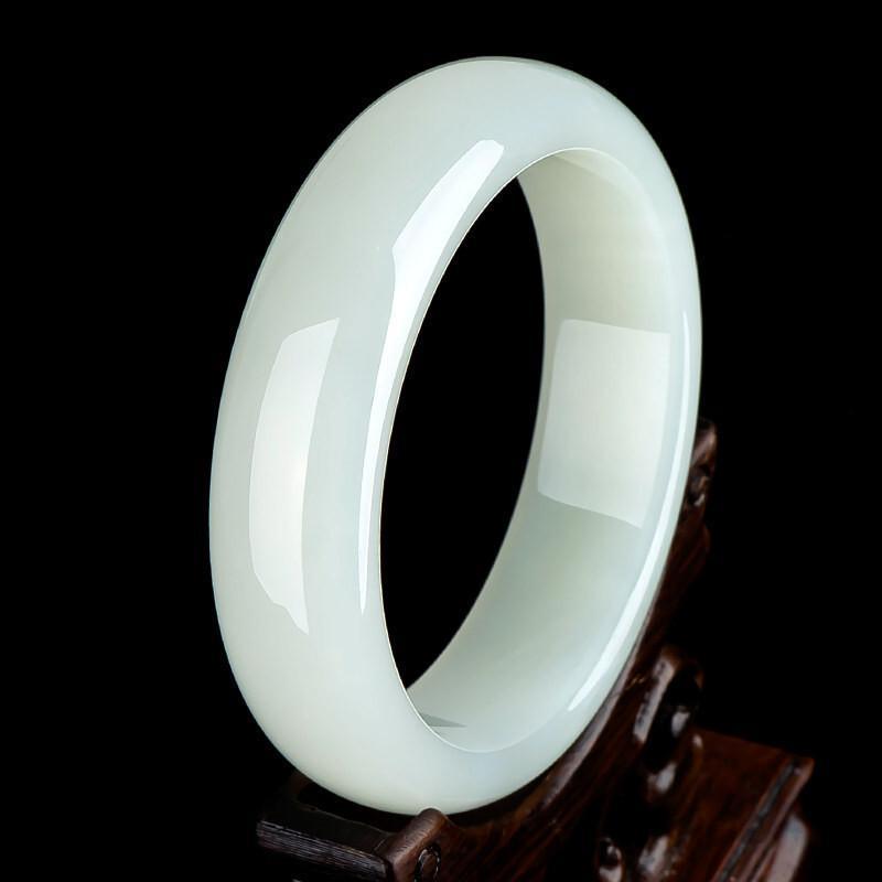 Pulsera de jade blanca de las mujeres Brazaletes de pulsera de alta calidad 0308