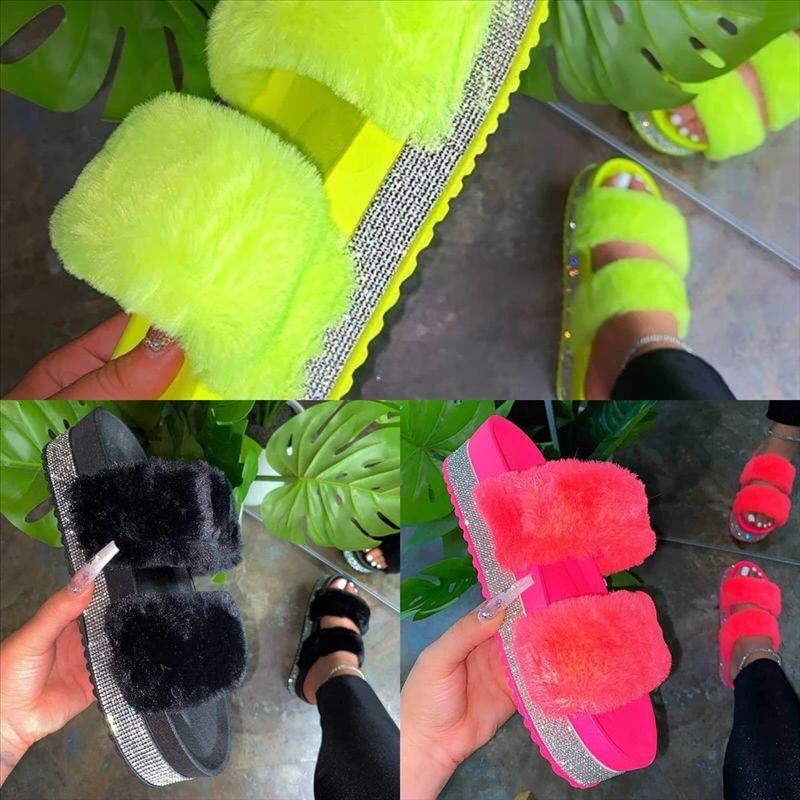 AF8F Женщины лук обувь вспышка высокого качества алмазные тапочки подошвы повседневные тапочки женские PVC летний бунион ортопедический сандал