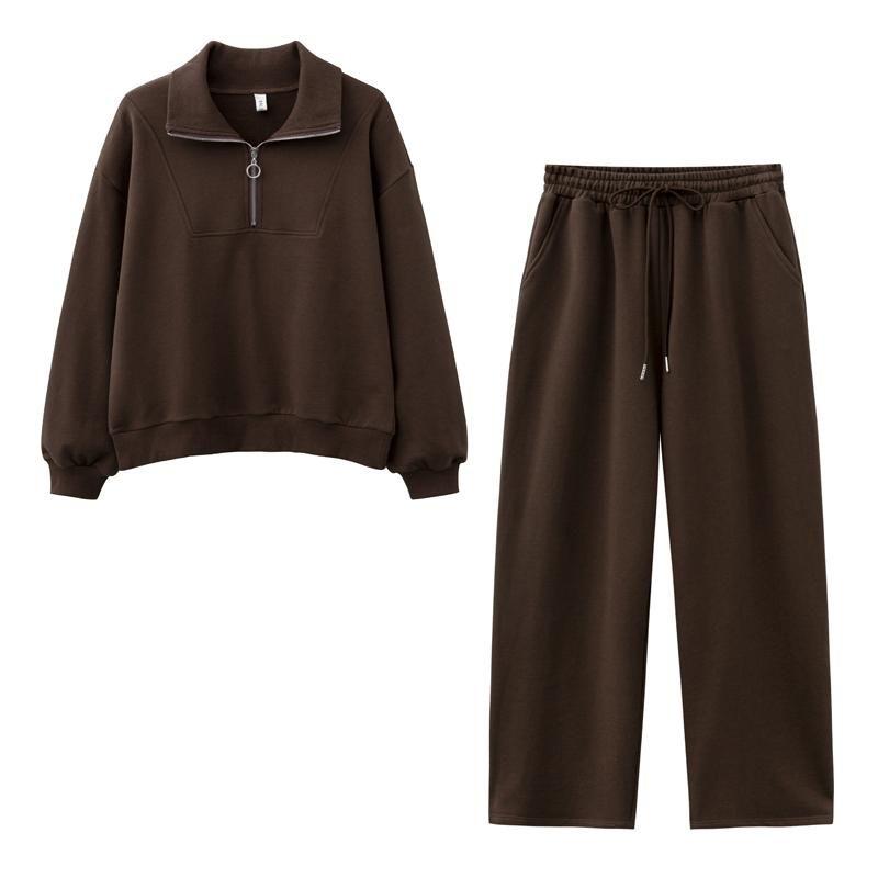 Damen Hoodies Sweatshirts Design 2021 Frauen Mode Sweatshirt Sets Beiläufige Frühling Sommer Wild Bein Hosen Anzug Baumwolle
