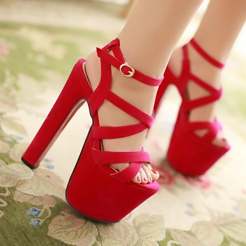 Fashion Womens Shoes 2021 Female Sandal Block Heels Large Size Espadrilles Platform Open Toe Luxury Girls Comfort Chunky Big Bei