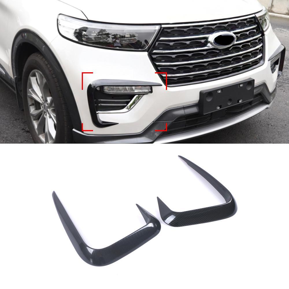 Carmango para Ford Explorer U625 Accesorios para automóviles delantero Spoiler Spoiler Difuser Splitter Protector de rasguños Chrome