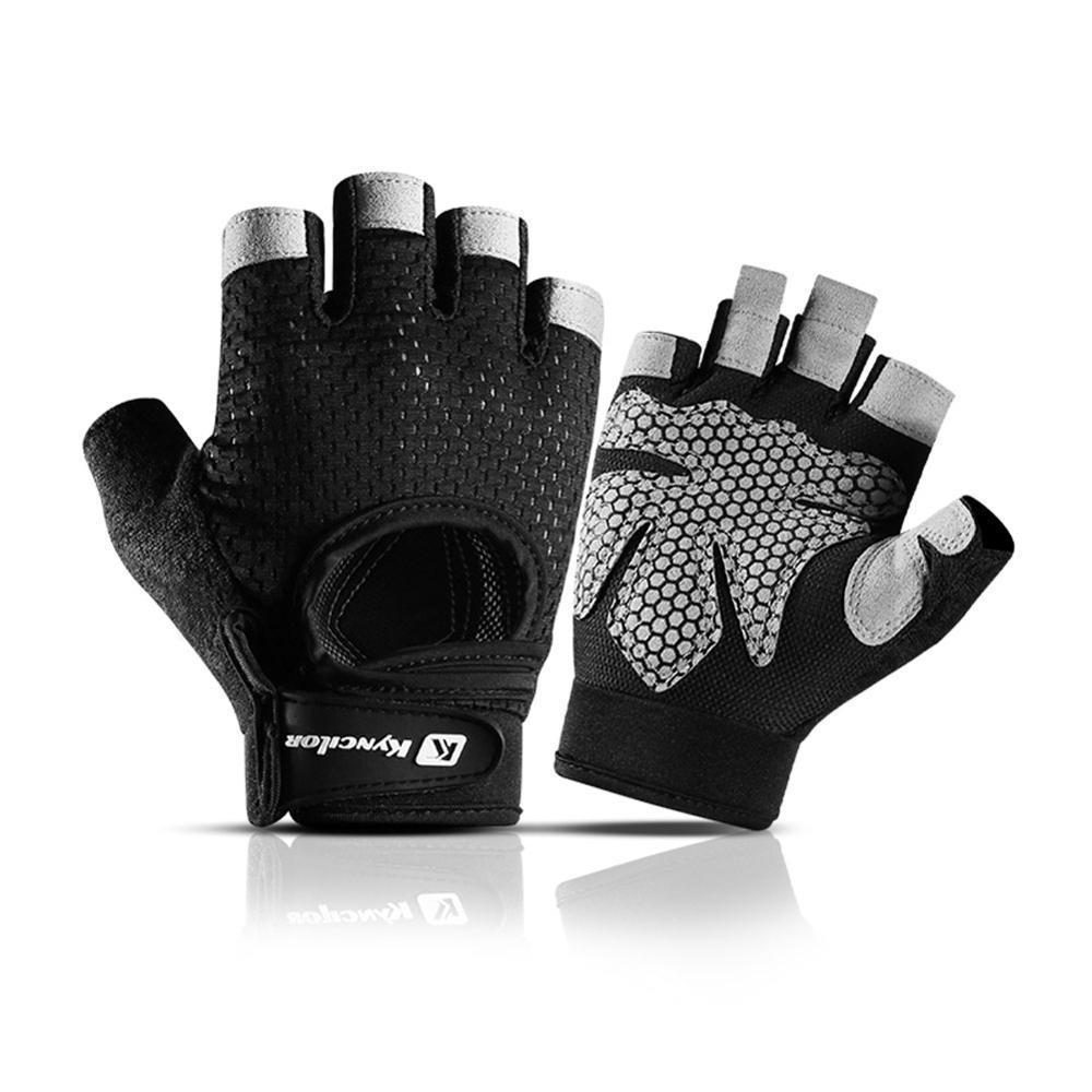 Gants de fitness gymnase de gymnastique antidérapant Bodybulking gants de bodybulisme respirant Anti-dérapant Formation de cyclisme Randonnée moitié doigt gants L0312