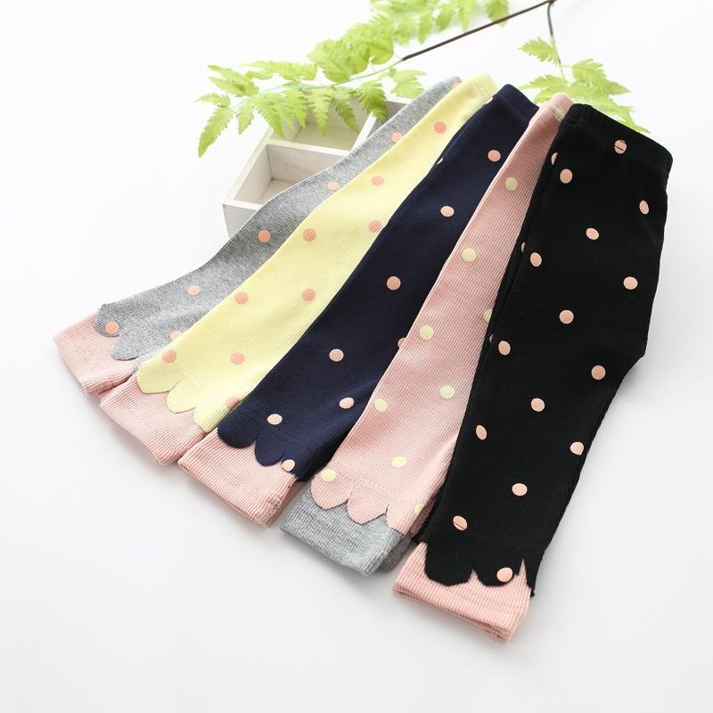 Frühling Herbst Neue Baby Girl Pants Strick Dot Print Neugeborene Hosen Infant Baby Leggings für 0-2 Jahre alte Hose