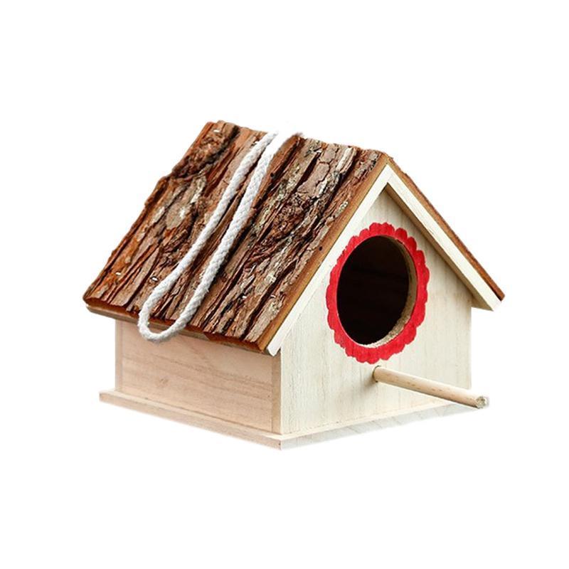 Creative Wooden Bird Houses Nest-Naturals all'aperto Appeso Giardino Patio Birdhouses per piccoli animali, uccello