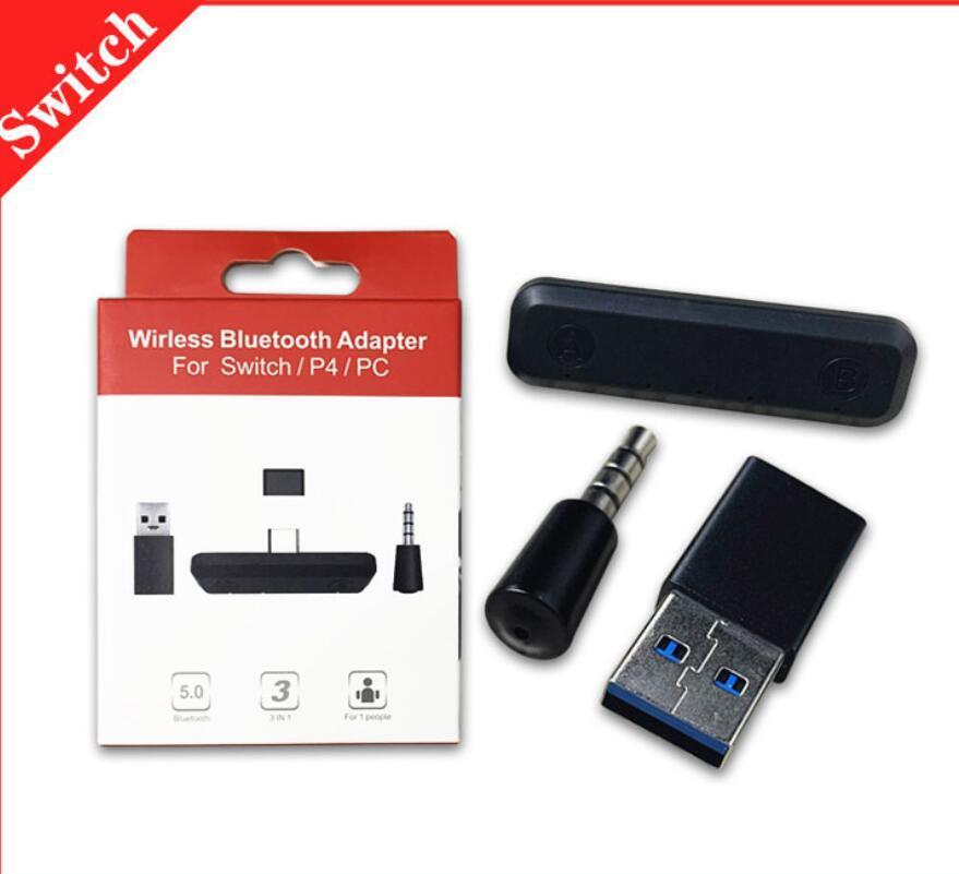 스위치 용 변환기 Bluetooth 어댑터 USB Type-C PC PS4 Consol 용 Nintendo 오디오 수신기 송신기 용
