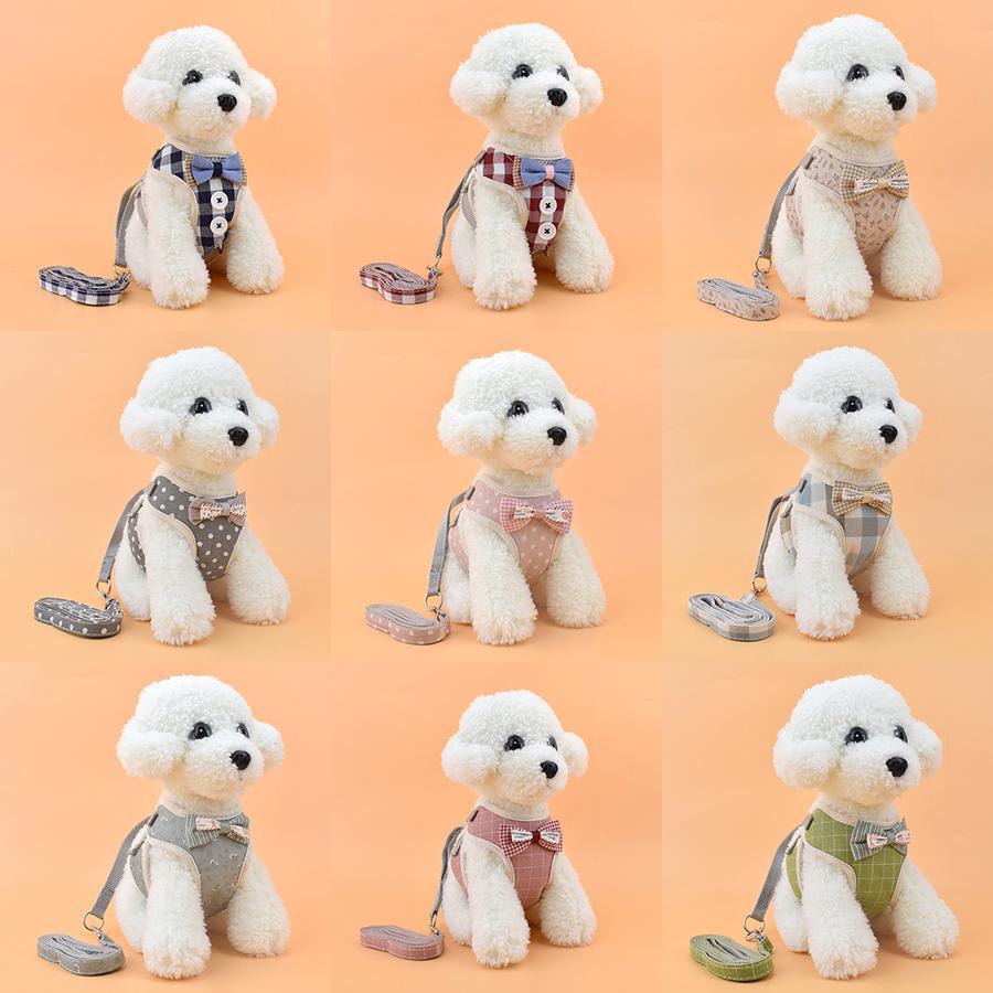 Жгуты собаки кошка поводки домашнее животное жилет типа собак поводки домашнее животное поклон на груди домашнее животное 9 стиль xd24553