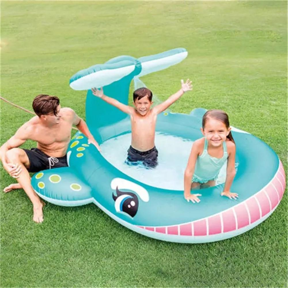 Fountain Cartoon Baby Child Inflatable Swimming Pool Piscina Inflatable Adulto Ocean Ball Pool Sand Pand Home Water Spray Pools For Summer