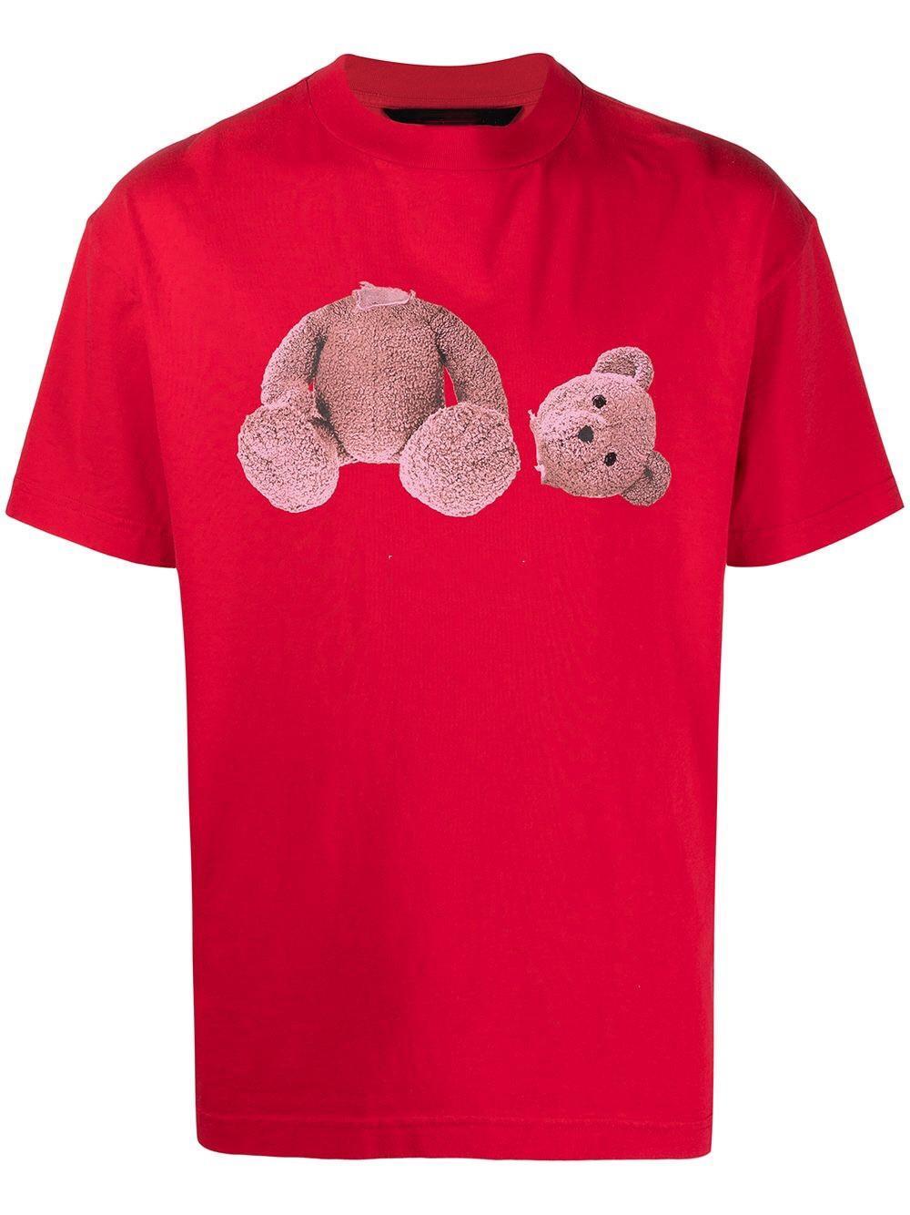 Chic femmes coton tshirt manches courtes designer hommes beaux ours cartoon lettre papier imprimé crofeck Tshirt