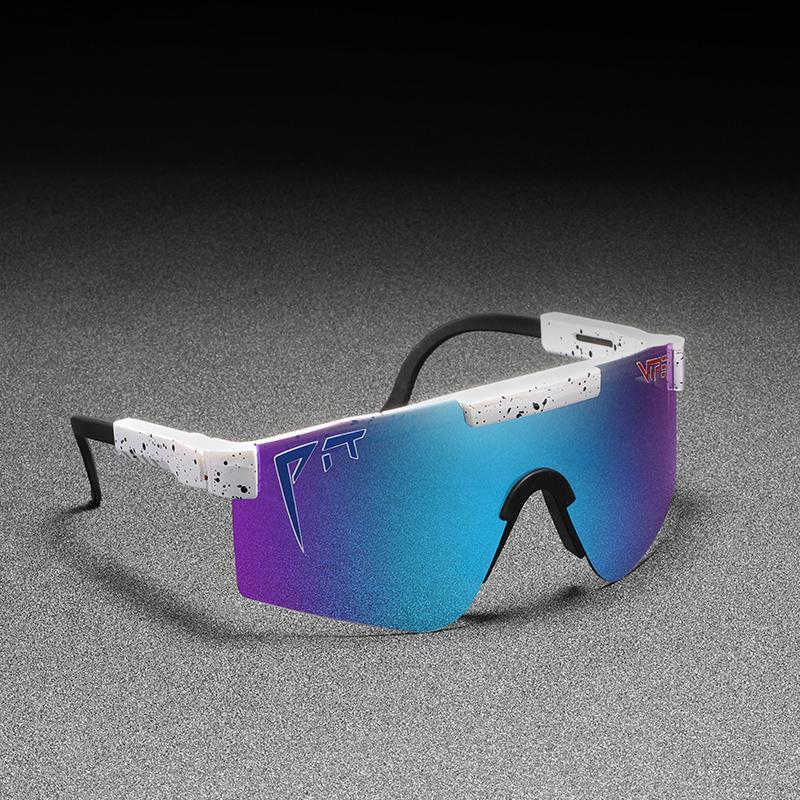 Original Pit Viper Sport Google TR90 Polarisierte Sonnenbrille Für Männer / Frauen Outdoor Winddichte Eyewear 100% UV gespiegelt Linse