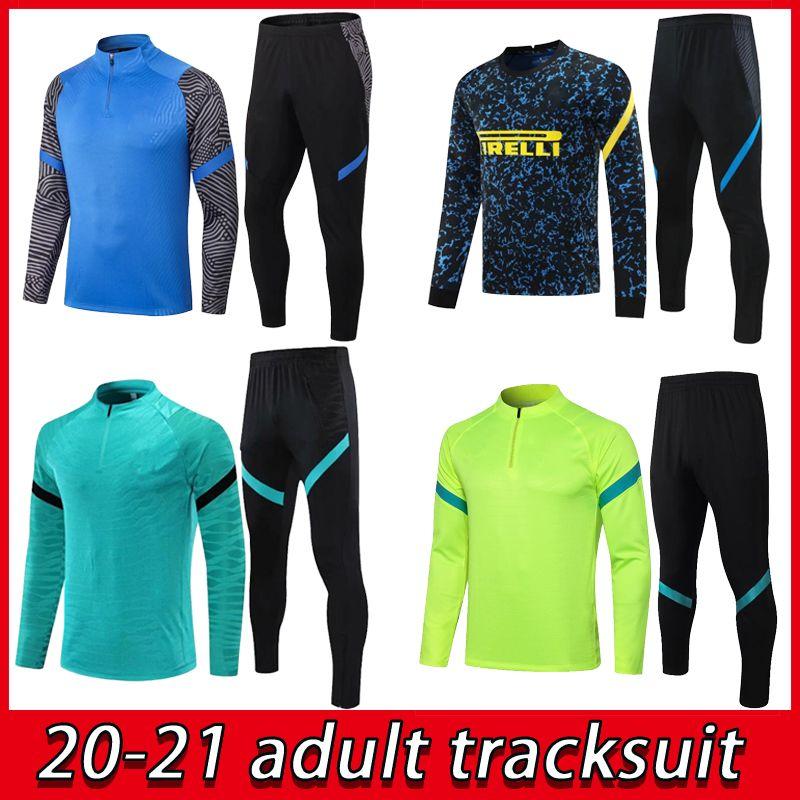 Top 20 21 Intervenue Tracksuit Lukaku Football Former Ensemble 2021 Eriksen Vidal Barella Hakimi Football Jacket Ensemble de jogging