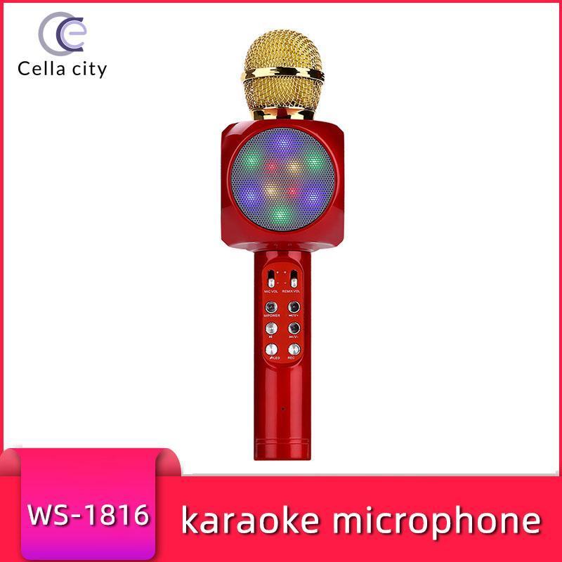 Cella City Kablosuz Karaoke Mikrofon Göz Kamaştırıcı Işıklar Destek Bir Çeşitli Ana Uygulamalar Cep Telefonu K Şarkı Kondenser Mic