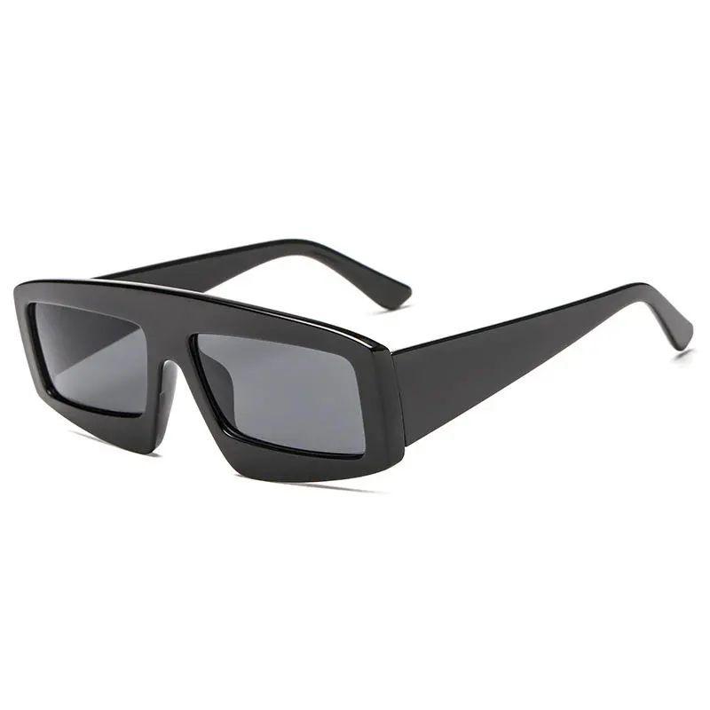 Men Anti-UV PC Lens Glasses Irregular Square Sunglasses